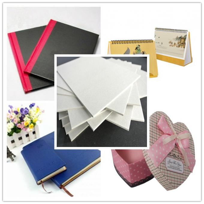 800gsm 1.5mm Grey Board Paper Sheet Single layer of Recycled Mixed Pulp
