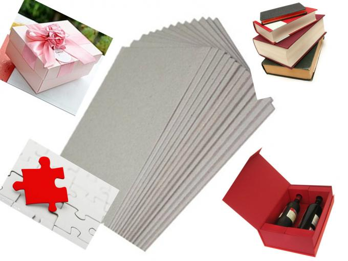 Calendar used Environment Foldable two side Gray Chipboard for book / box