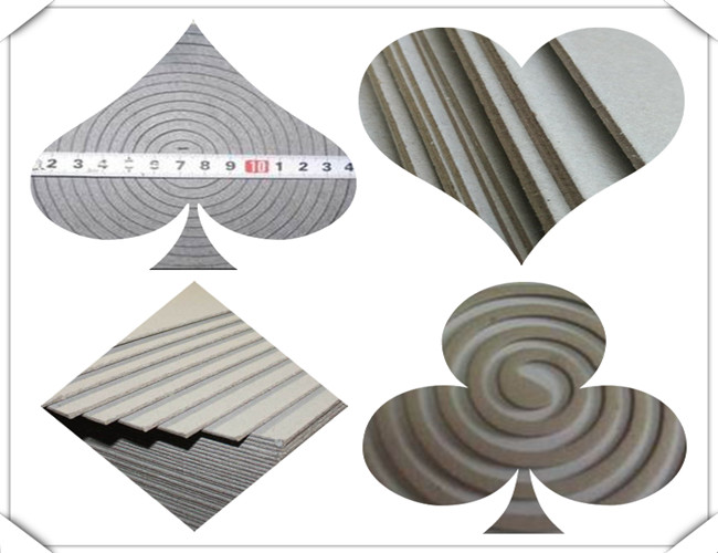 Solid 1500gsm Unbleached Grey Board Raw Material for Mosquito Coil
