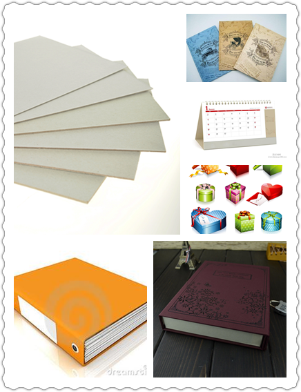 Material Mixed Paper Pulp Book Binding Board , Uncoated Grey Board Sheets