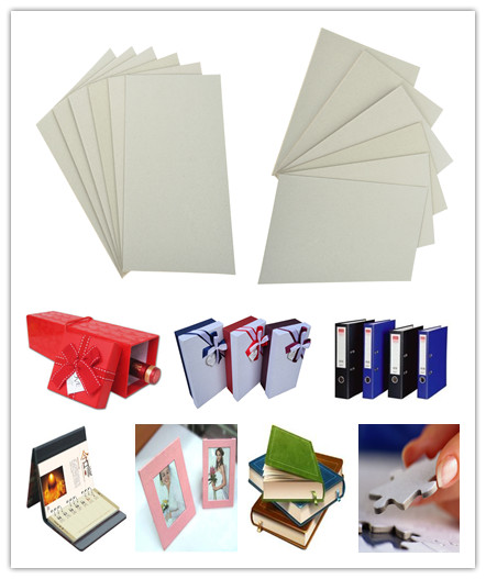 Natural Paper Pulp Grey Book Binding Board For Macking Arch File / Box