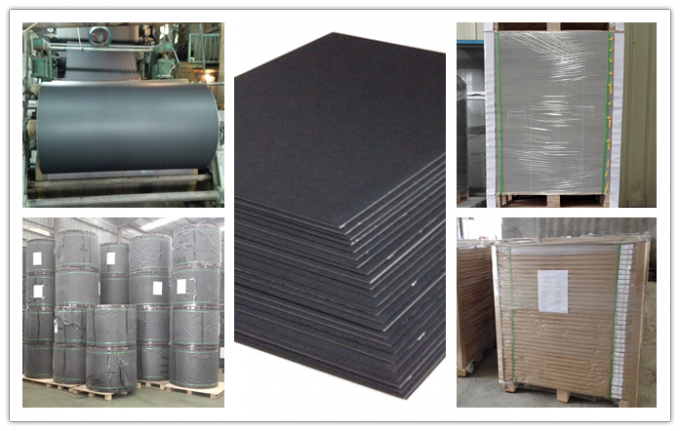 High Durability Large Roll Of Black Paper One Side or Two Side smooth Surface