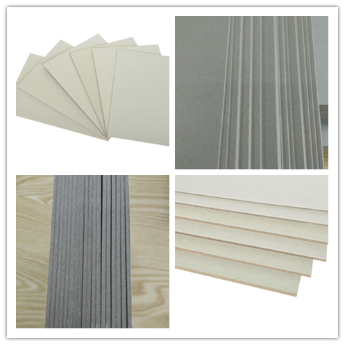 Eco-friendly Recycled Unbleached Two Side Grey Chipboard in Gray Color