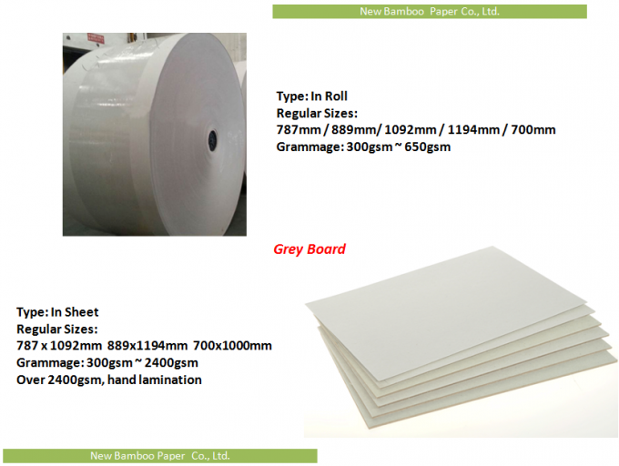Roll and Sheets Grey Board / Grey Chipboard for Book Cover / Arch file