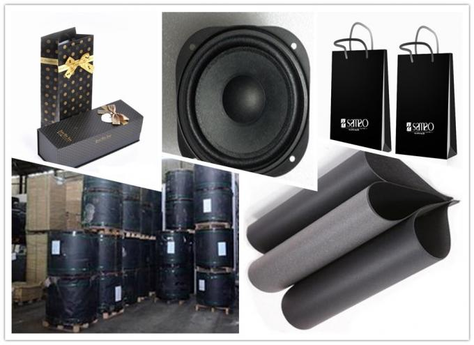 Low Grammage 110gsm-550gsm Black Cardboard / Black Paper Board in Roll