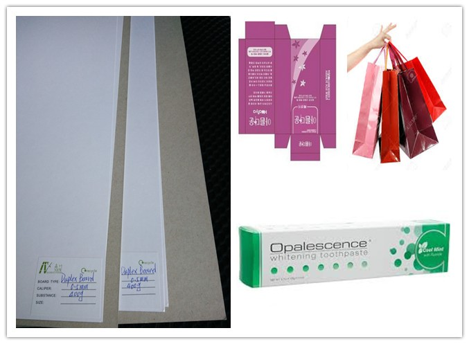 6% - 8% Moisture Smooth Duplex Paper Board White Coated Grey Back Offset Printing