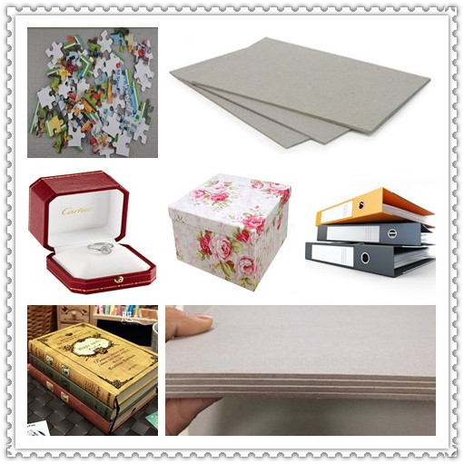 1800gsm / 3mm Carton Gris Laminated Grey Paperboard For Parkaging Boxes