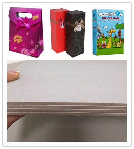 Eco - Friendly Grade B Thick Strawboard Paper Two Sided Grey Uncoated For Printing
