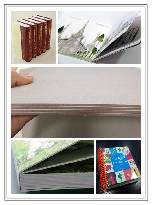 Grey Laminated Book Binding Cover Board , 1.5mm Book Boards For Binding
