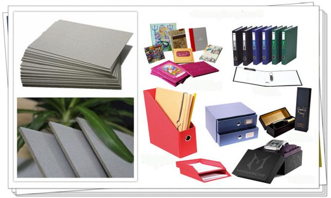 Hard Grey Board Book Binding Boards 1800gsm Smooth Surface Cover Material