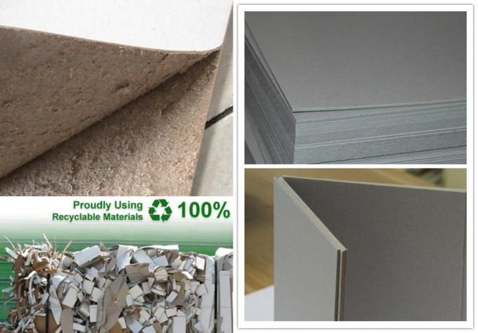 Recycled Thickness 1.3mm 820gsm Rigid Grey Cardboard Sheets Hard Paperboard