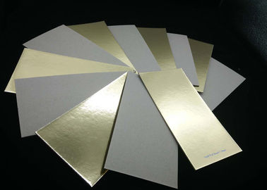 China Environment Grade A Laminated Paperboard Gold Paper Grey Back For Cake Bakery supplier