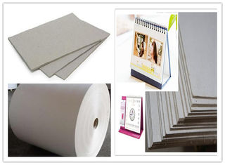 China One layer Grayboard Laminated Grey Board Paper for Desk Calendar supplier