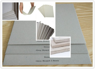 Recycled Pulp Uncoated Laminated Grey Chipboard 700gsm - 1800gsm 1.5mm Thick Paper