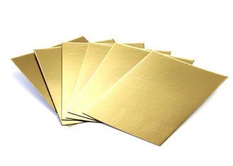Metalized Shiny Gold Foil Cardboard Laminated Grey Board Gold Paper Cake Boards