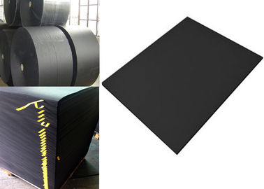 China High Durability Large Roll Of Black Paper One Side or Two Side smooth Surface supplier
