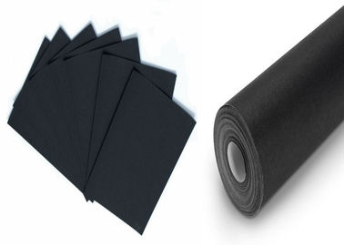 China Degradable One Side Coated Black Paper Roll from 110gsm to 600gsm supplier