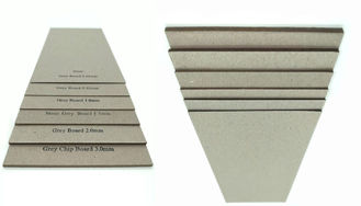 China Stocklot Matte Paper 1.5mm Grey Sheet Cardboard Book Boards For Binding supplier