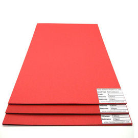Anti-Curl 250gsm 300gsm 350gsm red cardboard hard color paper sheet