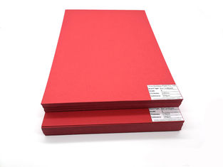 China Anti-Curl 250gsm 300gsm 350gsm red cardboard hard color paper sheet supplier