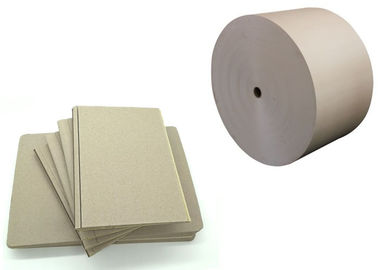 China A4 Sample Size Sheet / Roll Grey Chipboard Good Stiffness with Recycled Paper supplier