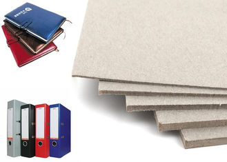 China Arch File / Notebook Cover Anti-Curl grade A Grey Book Binding Board Paper Sheet supplier