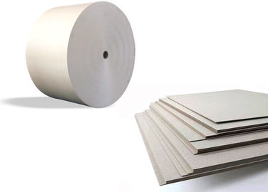 China Lamination two side Gray Paper Roll Anti Curl 400gsm / 0.66mm supplier