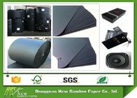 China High Durability Large Roll Of Black Paper One Side or Two Side smooth Surface company