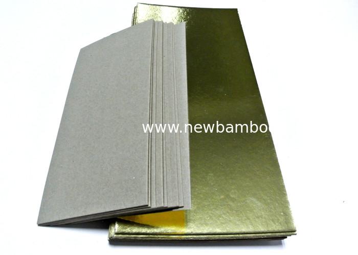 Laminated Board Sheets ~ Gold laminated grey board paper hard