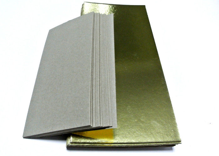 Gold laminated grey board paper hard