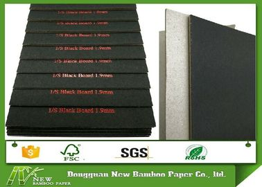 Laminated C1S Black Paper with Grey Back 1.9mm Solid Grade A Paper Board