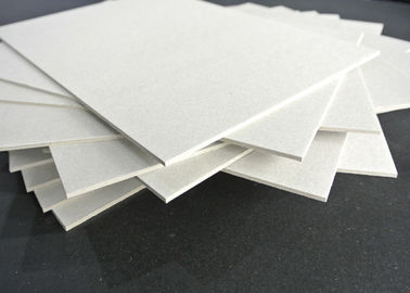 China Grade A Grey Chip Board with 100% Recycled Paper SGS Certificate Anti-Curl Cardboard Sheets factory