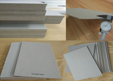 China Material Mixed Paper Pulp Book Binding Board , Uncoated Grey Board Sheets factory