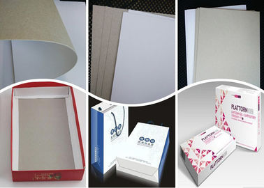 China 400Gsm 0.5mm Coated Duplex Board Paper Grey Back for Folding Box factory