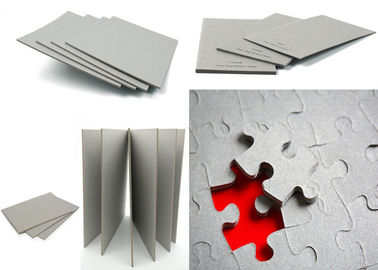China 1200gsm / 2.04mm folding resistance Gray Paperboard / one layer Grey Back Board factory