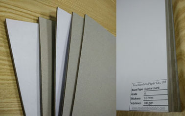 China Rigid Gray Paperboard Single Side Coated Duplex Board Grey Back 1550gsm Stiffness factory