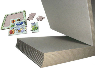 China 3.32mm 2100gsm grey back grey cardboard for puzzle made by waste paper factory