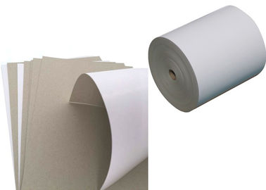 China Environment one sie coated Duplex Board grey back in roll / sheets factory
