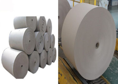China Smoothy surface Grey Paper Roll used for lamination with different paper board factory